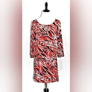 EUC BCBGMaxAzaria Long Sleeve Print Dress